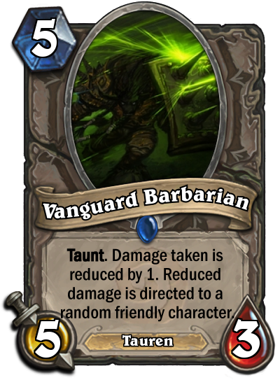 Vanguard Barbarian Custom Hearthstone Card